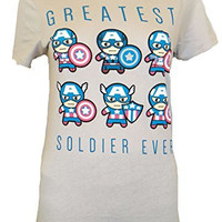 Captain America Kawaii Civil War Greatest Warrior Juniors T-shirt