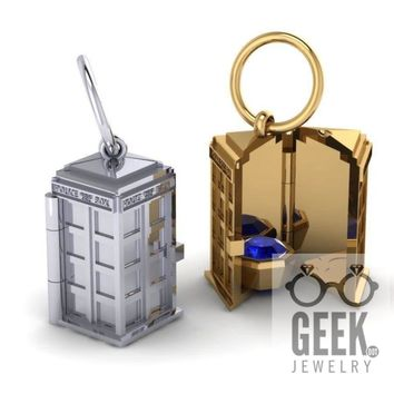 TARDIS Locket Pendant,