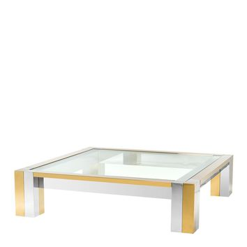 Gold Square Coffee Table | Eichholtz Titan