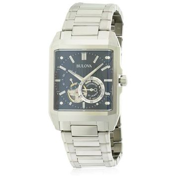 Bulova 96A194 Stainless Steel Automatic Mens Watch, Black