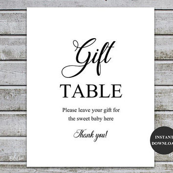 Gift Table Sign Wedding Baby Shower Printable Gift Table decor Gift Sign Bridal Shower Signage Bridal Shower Wedding Instant Download (v32-1