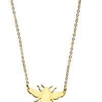Bee Necklace in Mirror Gold