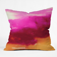Caleb Troy Cherry Rose Painted Clouds Outdoor Throw Pillow