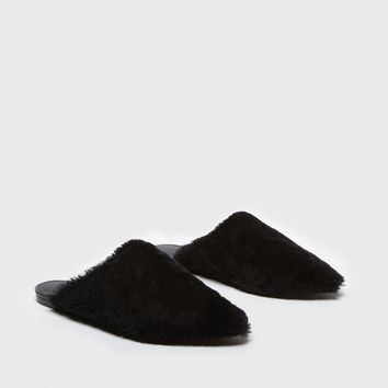 Shearling Mule - Black