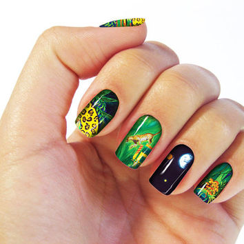 In The Mayan Woods Nail Wraps - Fine Art Design, Set of 16