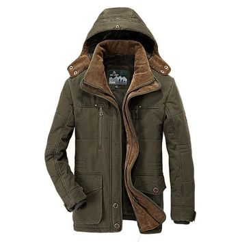 Male Cotton Padded Jacket Quality Mens Winter Down Jacket