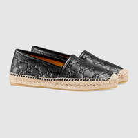 Gucci - Gucci Signature leather espadrille