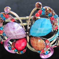 Butterfly Bangle Bracelet Multi-Color