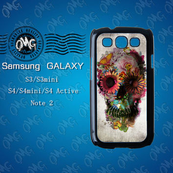 Flower Skull,Samsung Galaxy S3 case,Samsung Galaxy S4 case,Samsung Galaxy Note2 case,Samsung Galaxy S4 Active case,S3 mini case,S4 mini case