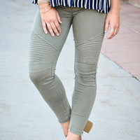 Olive Motto Jeggings