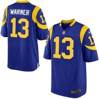 Mens St. Louis Rams Kurt Warner Nike Royal Blue Retired Player Game Jersey