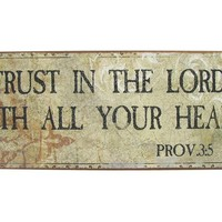 Trust in the Lord Tin Sign | Shop Hobby Lobby