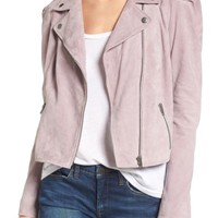 Leith Suede Moto Jacket | Nordstrom