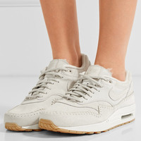 Nike - Nike Air Max 1 Sherpa suede and shearling sneakers