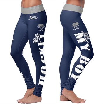 Hockey Mom Leggings - Blue