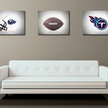 Discount set of 3 Tennessee Titans B&W Background photo prints,boys room decor,kids room,football decor,sports decor,Tennessee Titans decor