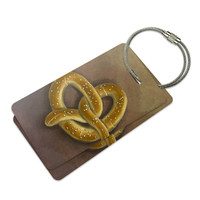 German Soft Pretzel Luggage Tag Set