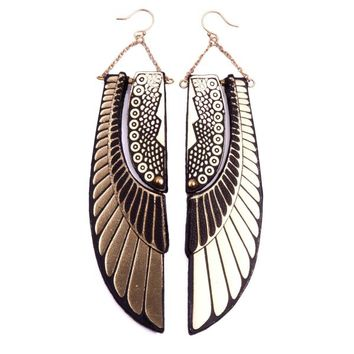 Deco Scarab Wing earrings | rosita bonita