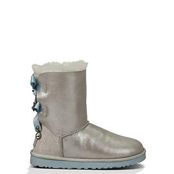 UGG Women's Bailey Bow Bling I Do! White Boot 11 B - Medium