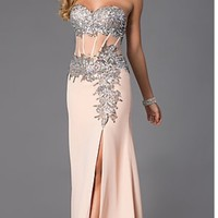 Nina canacci nude prom dress