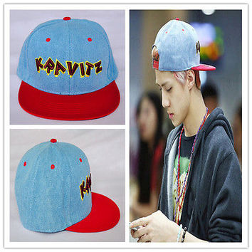 EXO SEHUN KPOP Hat Baseball Cap Adjustable Snapback Cap Hip-Hop Hat Cotton Blend