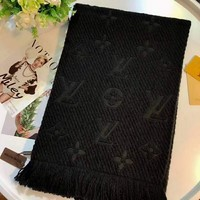 Louis Vuitton classic women's fine fashion trend scarf F-TMWJ-XDH black