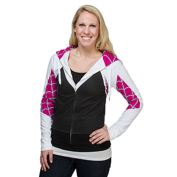 I Am Spider-Gwen Zip Up Ladies' Hoodie