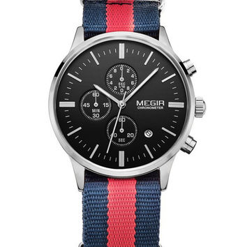 Megir Yachtsman Chrono (Red/Navy/Silver)