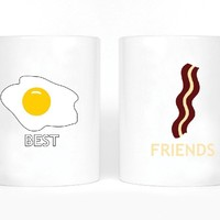 Eggs and Bacon Best Friends Girl BFFS Mugs