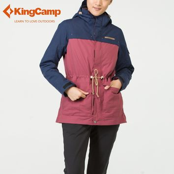 KingCamp Feather Liner for Skiing, Camping Winter jacket Women's Waterproof 3 in 1 Ski Jacket Down Liner Winter Hooded Jacket