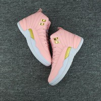 Nike Air Jordan Retro 12 GS Pink Women Sneakers Sports Shoes