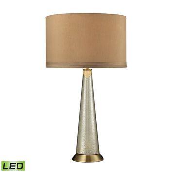 D2698-LED Middlebury Antique Mercury Glass LED Table Lamp in Aged Brass