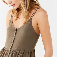 UO Button-Down Gauzy Mini Dress | Urban Outfitters
