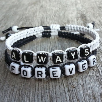 always forever  boyfriend Jewelry, Girlfriend Jewelry, Personalized Charm Jewelry Friendship Gift, Anniversary Gift Beauty and Beast Bracelets, Boyfriend Girlfriend Jewelry, Anniversary Gift = 1930351684
