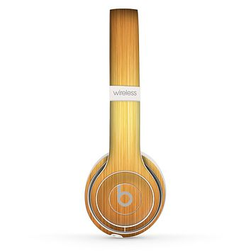 The Bright Brushed Gold Surface Skin Set for the Beats by Dre Solo 2 Wireless Headphones