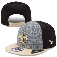 Youth New Era Black New Orleans Saints 2014 NFL Draft 9FIFTY Snapback Hat