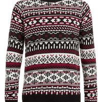 Aztec Stripe Sweater - Men's Cardigans & Sweaters - Clothing