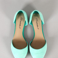 Breckelle Dolley-23 Suede Pointy Toe Flat
