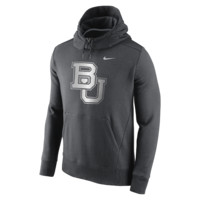Nike College Hybrid Fleece Pullover (Baylor) Men's Hoodie