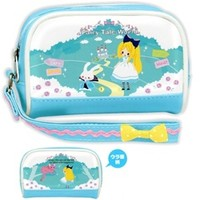 Kamio *Alice in Wonderland* Fairy Tale World Multi-Use Pouch with Strap: Blue
