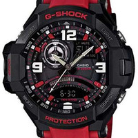 Casio G-Shock GRAVITYMASTER Aviator Watch - Black & Red - Anti-Magnetic