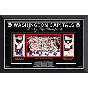 WASHINGTON CAPITALS THE STANLEY CUP CHAMPS, OVECHKIN AND HOLTBY, LTD ED 1 OF 88