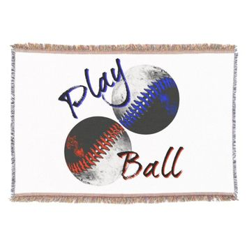 Play Ball Throw Blanket