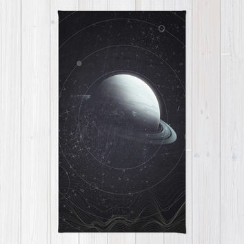 Space Sound Waves Rug by DuckyB (Brandi)