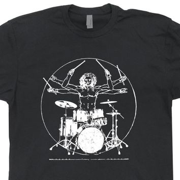 Da Vinci Drums T Shirt Drummer Shirt Vintage Drums Shirt Cool Drum Shirt