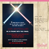 Star Wars Invitation Red -INSTANT DOWNLOAD-Editable File you can personalize at home with Adobe Reader - great for children or adult parties