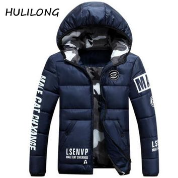 HULILONG Brand New Winter Jacket Men Warm cotton Jacket Casual Parka Men padded Winter Jacket  Handsome Winter Coat Men parkas