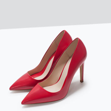 Leather court shoe