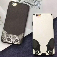 Creative Cat Dog Cover Case for iPhone 5s 7 se 6 6s Plus Best Gift