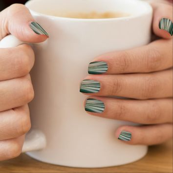 Green Futuristic Driving Dreams Minx Nail Art